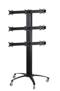 "Public TV Floor Stand Wheelbase 9-Monitor 10-24"" (AVD 009A) pictures & photos"