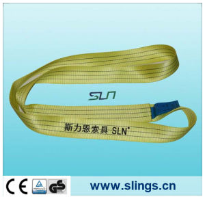 3tx1m Yellow Polyester Webbing Sling Safety Factor 7: 1 pictures & photos