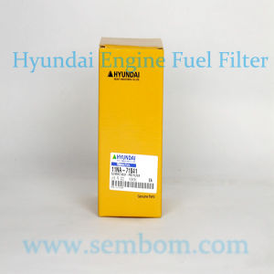 High Performance Engine Fuel Filter for Hyundai Excavator/Loader/Bulldozer