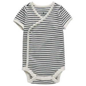 Custom Black and White Stripes Knitted Baby Romper pictures & photos