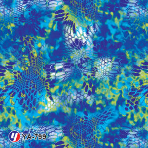 Yingcai 0.5m Wide Blue Camouflage Water Transfer Printing Hydro Dipping Film pictures & photos