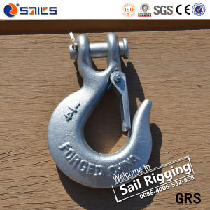 H331 Metal Carbon Steel Cliver Slip Hook with Latch pictures & photos