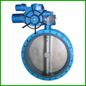 Double Flange Concentric Rubber Seal Butterfly Valve pictures & photos