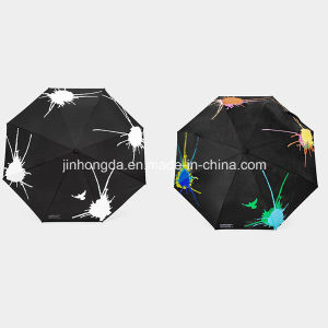 Folding Umbrella with Color-Changeable Printing (YSC0004) pictures & photos