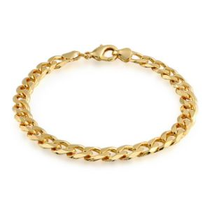 Gold Filled Unisex Cuban Curb Chain Bracelet