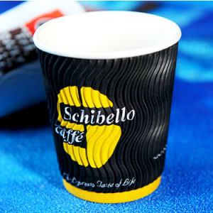 """""""S"""" Shape Ripple Wall Paper Cup with Customized-Sywp-12"""