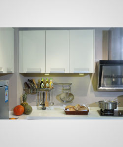Factory Price Melamine Kitchen Cabinet (zg-015) pictures & photos