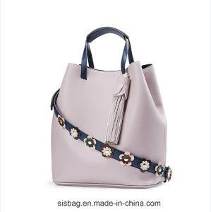 PU Tassel Shoulder Bag Flower Shoulder Strap Women Handbag pictures & photos