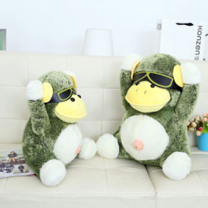 Multi Size Green Glasses Monkey Plush Toys