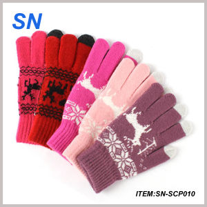 2015 Fashionable Acrylic Knitted Winter Touch Screen Glove pictures & photos