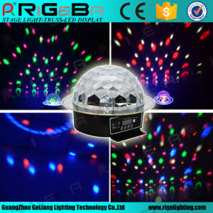 Voice-Activated LED RGB Crystal Magic Ball Effect Light Disco DJ Party Stage Lighting pictures & photos