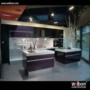 2016 Welbom Modern Black Lacquer Kitchen Cabinet pictures & photos