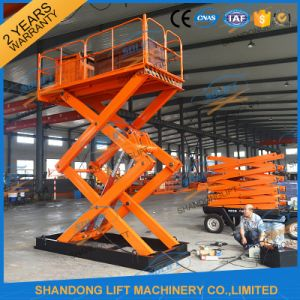 Stationary Mobile Hydraulic electric Scissor Cargo Lift Vertical Lift pictures & photos