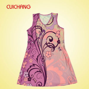 Wholesale Polyester Heat Transfer Printing Custom Design Women Netball/Tennis Dress, Women Sport Dress pictures & photos