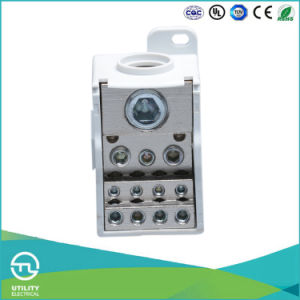 250A Electrical DIN Rail Terminal Block 14-1AWG pictures & photos