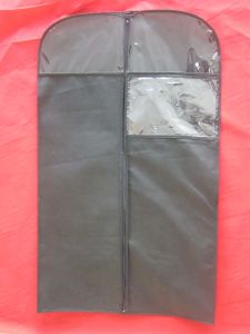 Non Woven Suit Cover with Zipper, Window and Logo Print pictures & photos