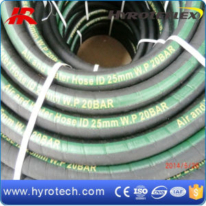Green Line Wrapped Cover/Smooth Rubber Air/Water Hose W. P 10bar/20bar pictures & photos