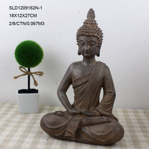 Brass Color Mediating Brass Buddha Sculptures for Home Decor