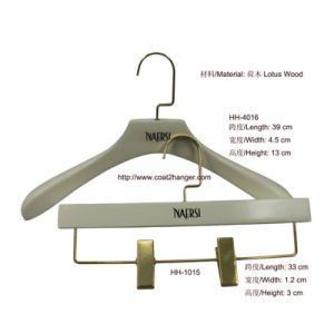 White Luxury Wooden Clothes Hanger pictures & photos