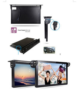 17 Inch Touch Screen Bus Headrest LCD Digital Signage pictures & photos