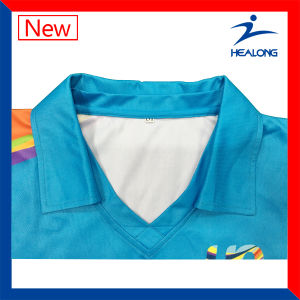 Healong Custom Cheap Subliamtion Women Tennis Polo Top T Shirts pictures & photos