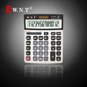 12 Digits Dual Solar Power Desktop Finance Calculator with Big Screen