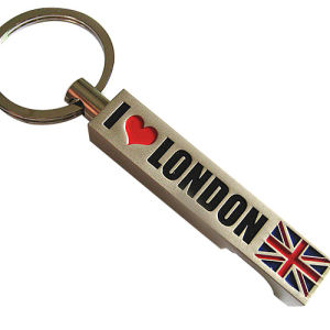Promotion Gift Metal Engrave London Keychain Bottle Opener Souvenir (F5006) pictures & photos