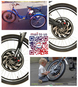 Sine Wave Controller in 3 Wheel Motorized Bike, Electric Cargo Trike, Three Electric Cargo Tricycle with Our Hub Motor pictures & photos