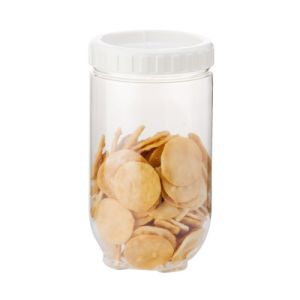 Clear Kitchen Round Transparent Plastic Food Containers with Lid/Keeps Contents Fresh and Secure, Clear pictures & photos