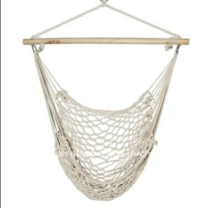 Outdoor Indoor Cotton Rope Hammock Swing with Wood Bar Swinging Chair New pictures & photos