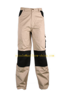 Khaki Black Mens Cotton Used Work Cargo Pants with Side Pockets pictures & photos