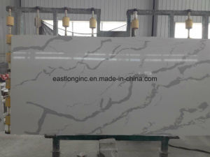 Calacatta White Artificial Quartz Stone Slab pictures & photos