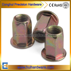 Steel Flat Head Hexagon Riveted Nuts M4 M5 M6 M8 M10 pictures & photos