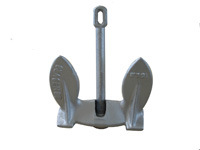 Navy Anchor with Aluminum Painted