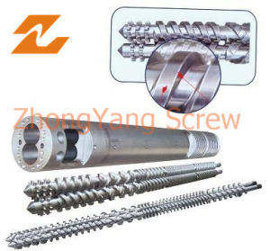 Conical Twin Screw and Barrel for Pipe Extrusion pictures & photos