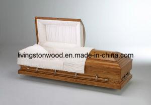 American Style Solid Oak Casket (Majestic)
