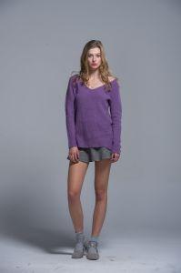 Ladies 100% Cotton Plain Color Fashionable Sweaters Standard Sizes pictures & photos