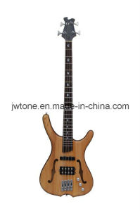 4 String Ash Body Double F Hole Electric Bass Guitar pictures & photos