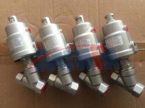 Manufacturer Pneumatic Stainless Steel Thread Ends Bsp/BSPT/NPT Angle Seat Valve