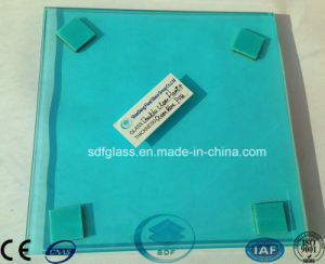 Double Clear Float Glass+Ocean Blue PVB Laminated Glass with CE, ISO pictures & photos