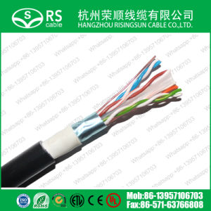 CAT6 F/UTP with Jelly/Apd for Outdoor Waterproof Use Black