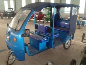 Electric and Gas Motor Tricycle Mototaxi Hybird Tricycle Taxi