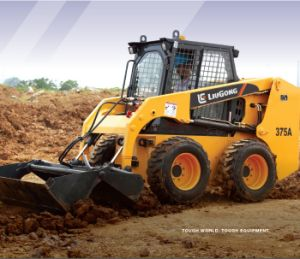 Best Price Skid Wheel Loader of 375A with Road Sweeper