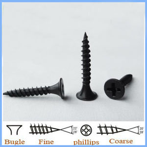 Black Drywall Screw with Bugle Phillips Head pictures & photos
