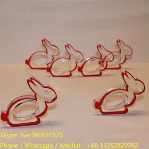Desktop Lovely Rabbit Shape Acrylic Napkin Holder pictures & photos