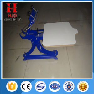 Single Color Screen Press Machine with Hjd-O1 pictures & photos