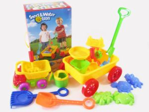16 PCS Sand and Water Toys Set with Trolley and Tool Set pictures & photos