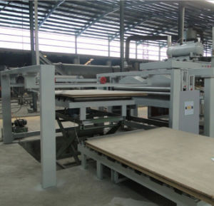Automatic Short Cycle Hot Press Veneer Production Line for Precomposed Wood Veneer pictures & photos