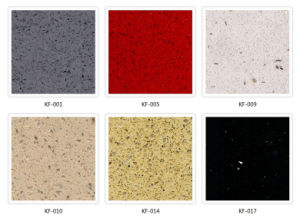 Kitchen Countertop Material Solid Surface Artificial Quartz Stone