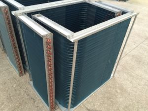 2016 High Quality Copper Tube Blue Fins Condenser pictures & photos